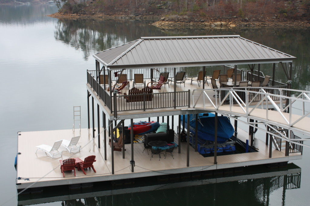 Two story dock at lewis smith lake