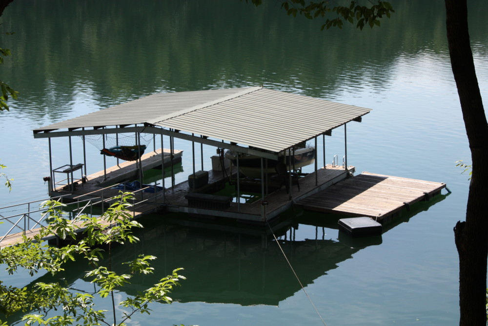 Dock at Soliloquy with Smith Lake Rentals and Sales