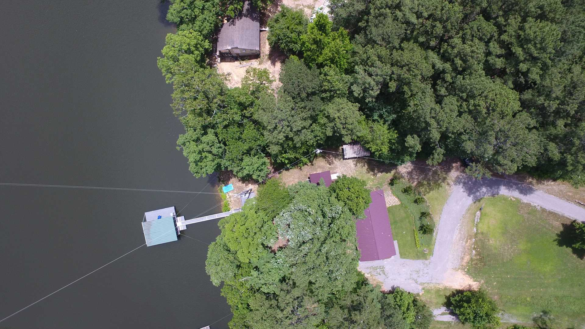 House and dock from drone