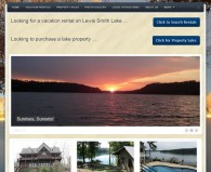 Picture of Smith Lake Rentals website